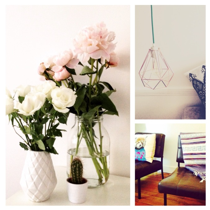 Décoration, Fleurs, Lampe, Filamentstyle, Fouta, Fauteuils, Roses, Pivoines, Vases, Hema, Coussin, Blog, Lifestyle, My purplemint