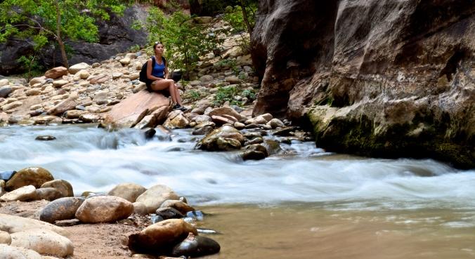 Randonnée dans les narrows à Zion National Park