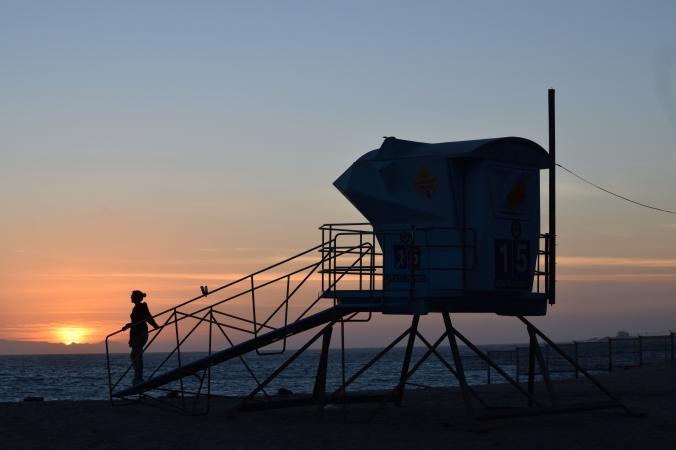 un arrêt à Malibu pour le coucher de soleil