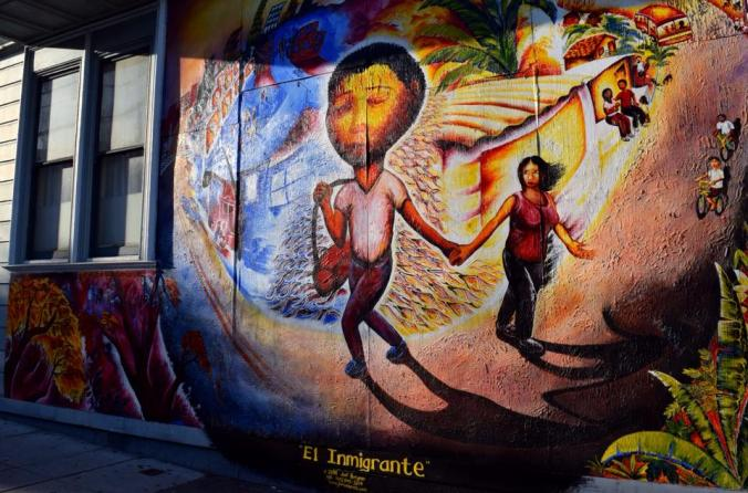 Peinture murale immigration San Francisco