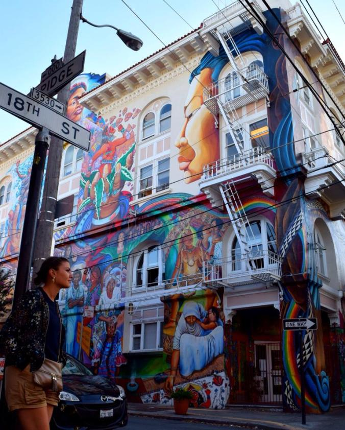 Women's building mural in San Francisco